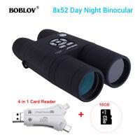 BOBLOV 8x52 Optical Infrared Telescope +16GB + Card Reader With AMP Human Sensor