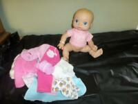 Baby Alive Wet and Wiggles Anatomically Correct Girl w/ Bonus Accssories