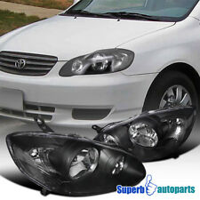For 2003 2008 Toyota Corolla Jdm Head Lamps Crystal Headlights Black Fits 2005