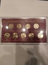 The evolution of the American nickel 9 coin set