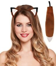 2 Pc Brown Fox Instant Dress Up Set Headband & Tail Animal Fancy Dress Costume