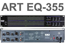 ART EQ355 2U DUAL 31 BAND EQUALIZER PROCESSOR $5 INSTANT OFF HOME STAGE STUDIO