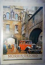 J Arthur Dixon Advertising Postcard - Morris Oxford Car - NEW