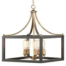Home Decorators Boswell Quarter 5-Light Vintage Brass Chandelier