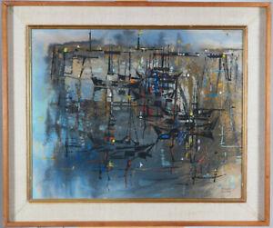 Bobs Cogill Haworth (1900–1988)RCA OSA Canadian Acrylic Harbor 60's Retro Modern