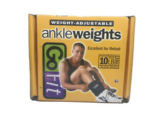 GoFit Adjustable Ankle Weights 10 Pounds Total Or 5 Pounds Each