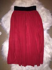 Black Milk Clothing XXS Red Chiffon Midi Skirt BNWT Blackmilk