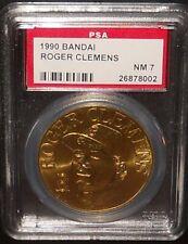 PSA 7 NM 7 - Roger Clemens 1990 Bandai Baseball Coins Boston Red Sox