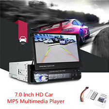 """Car 7.0"""" LCD HD Touch Retractable Screen MP5 Multimedia Player Hands-free Call"""