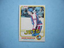 1981/82 O-PEE-CHEE NHL HOCKEY CARD #358 DAVE BABYCH ROOKIE NM SHARP!! 81/82 OPC