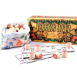 Russian Bingo Lotto Game Russkoe Loto Board Game Family Game Русское Лото