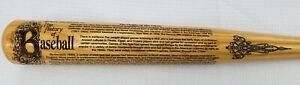 Heavy Hitter THE HISTORY OF BASEBALL Engraved Wood Bat MLB RARE New/Mint! nike