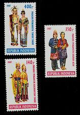 INDONESIA    SCOTT # 1317-1319   MNH   FOLK COSTUMES