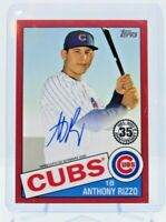 2020 Topps Series 2 ANTHONY RIZZO 1985 AUTO RED CHICAGO CUBS 15/25 85A-ARZ