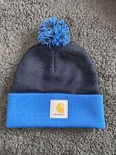 Carhartt Bobble Hat Blue Navy