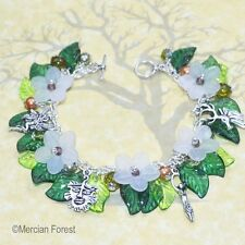 Hawthorn Flowers Pagan Bracelet - Wicca, Witch, Summer Jewellery, Beltane, May