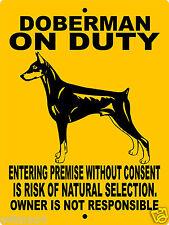 """Doberman Pinscher Dog Sign,9""""x12"""" Aluminum Sign,Dog Warning Sign,Security,Dod1"""