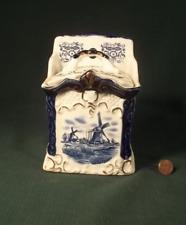 Ceramics Salt Box  Dutch Windmills