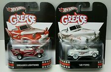 Hot Wheels Retro GREASE '48 FORD GREASED LIGHTNING Lot of 2 BRAND NEW RARE