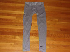 NIKE DRI-FIT GRAY COMPRESSION TRAINING TIGHTS MENS LARGE EXCELLENT CONDITION
