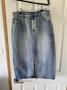Decjuba Denim Skirt Size 14