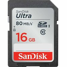 16GB SanDisk Ultra Class 10 UHS-I SDHC Memory Card