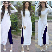 Indian Stylish Designer Bollywood Party White Blue Salwar Suit Dress Material
