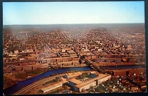 1950s Aerial view of Manchester, Merrimack Valley, Manchester, NH