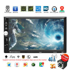 """Quad Core Android 7.1 4G WiFi 7"""" Double 2DIN Car GPS FM Radio Stereo MP5 Player"""