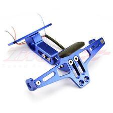 Motorcycle License Plate Holder LED Tail Light Fender Eliminator Blue For Honda
