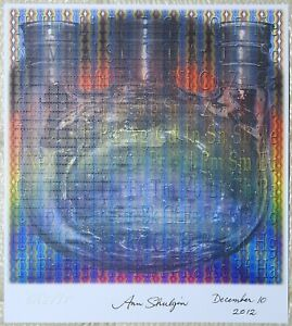 Blotter art Spectrum Synthesis Ann Shulgin signed Rafti