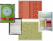Christmas Embossing Folders Branches Swirl and Ribbons Sizzix 657252 folder set