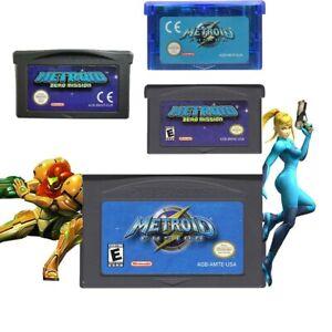 New Metroid Fusion Zero Mission Game Boy Advance Color GBA GBC Nintendo 32 bit