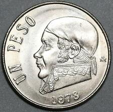 1978 Mexico 1 Peso Jose Morelos Gem BU Coin (20042604R)