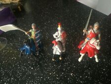 BULLYLAND KNIGHTS HORSE & KNIGHT FIGURES x3