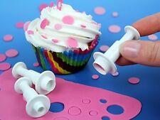 3pcs Circle Round Fondant Gumpaste Cookie Clay Cutter Plunger Set Baking Tools