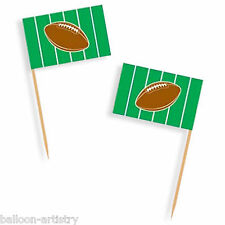 50 American Football GAME DAY Party Green Flag Snack Picks
