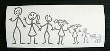 adesivo Famiglia - happy family decal sticker auto moto papà mamma cane bimbi