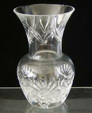 Waterford Crystal Vase Clear Floral Cut on Base Ireland