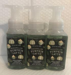 Bath And Body Works 3 Bottles Of Marshmallow Pumpkin Latte Gentle Foaming Soap
