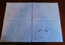 Lot of 4 Pokemon Japan Destiny Deoxys Animation Cel Drawing Settei Ash Ketchum