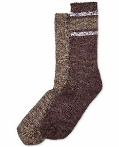 HUE marled striped women's boot socks - Brown/Espresso- One size