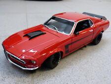 1969 BOSS 302 TRANS AM Mustang ALLAN MOFFAT ROJO FORD ACME Coche Modelo 1:18