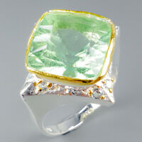 Jewelry for Sale Natural Fluorite 925 Sterling Silver Ring Size 8.5/R114247