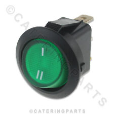 Burco Neon Verde Illuminato 1 2 slot Selettore Interruttore A Bilanciere Circolare 20mm