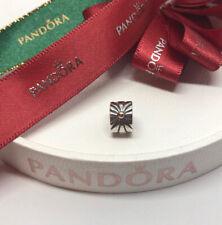 Pandora Two Tone Silver & 14k Gold Sunburst Clip 790216 Retired Authentic Ale