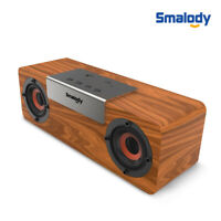 Portable Retro Wooden Bluetooth Wireless Speaker Stereo Bass TF Slot FM Radio