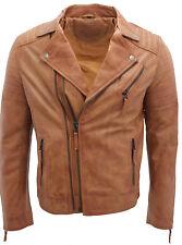 hombre marrón, negro, Burdeos & Vintage Negro Brando cremallera doble