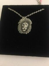 Lion R56 Emblem Silver Platinum Plated Necklace 18""