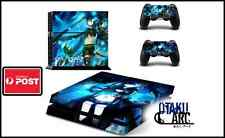PS4 Skin - Black Rock Shooter - Playstation 4 Console+2 Controllers Skin set